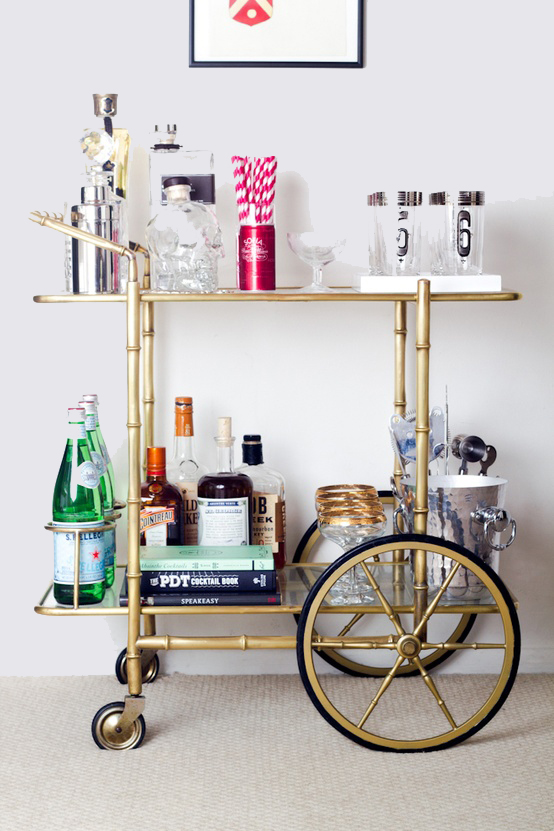 bar cart inspiration 2